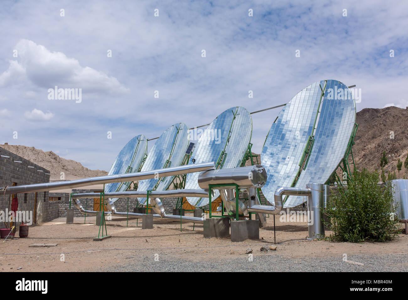 Big Solar Water Boilers in modern experimental school in Leh, Ladakh ...