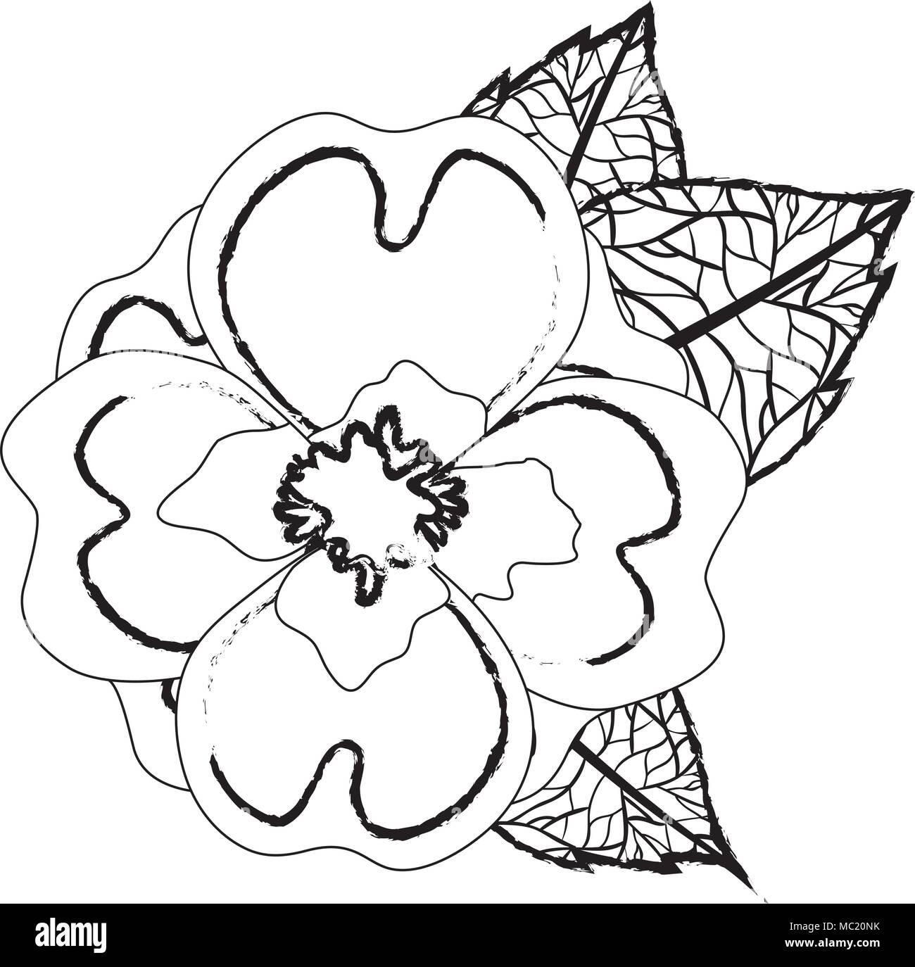 Cute jasmine flower with leafs decorative stock vector art cute jasmine flower with leafs decorative izmirmasajfo