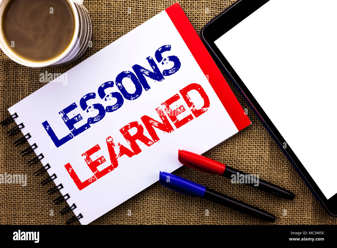 handwriting text lessons learned concept meaning experiences that