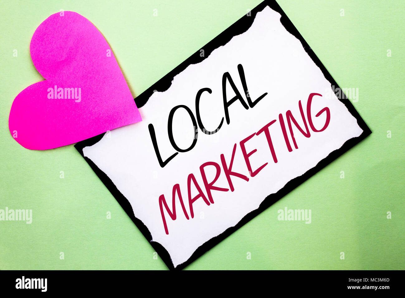 handwriting text writing local marketing concept meaning regional