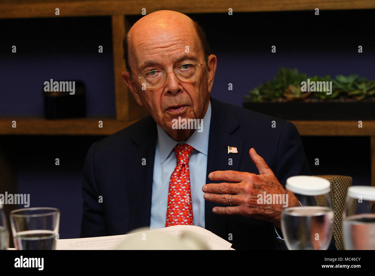 Us Secretary Of Commerce Wilbur Ross Addresses The Media In Lima