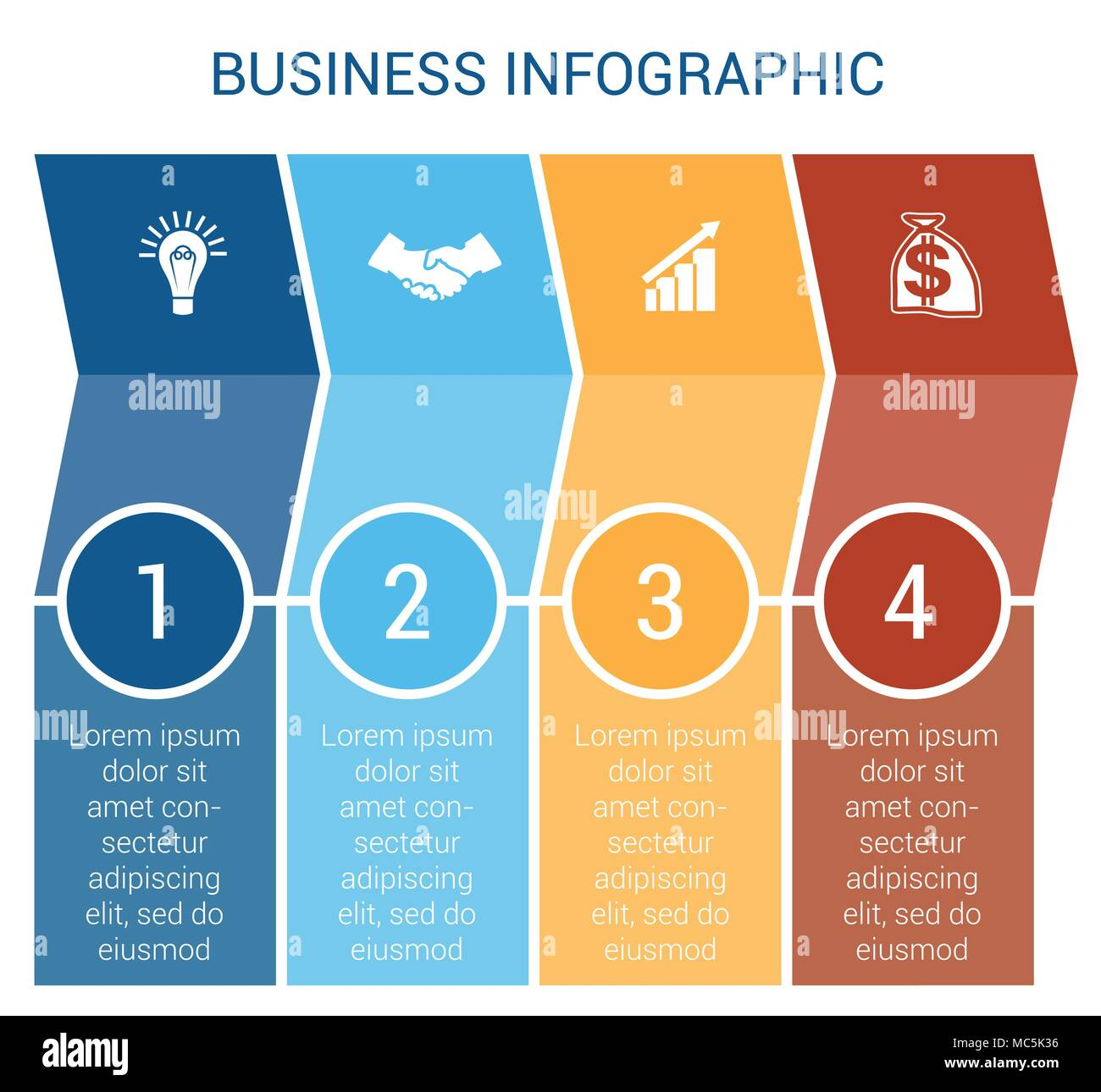 Business Infographic design for Timeline four position can be used ...