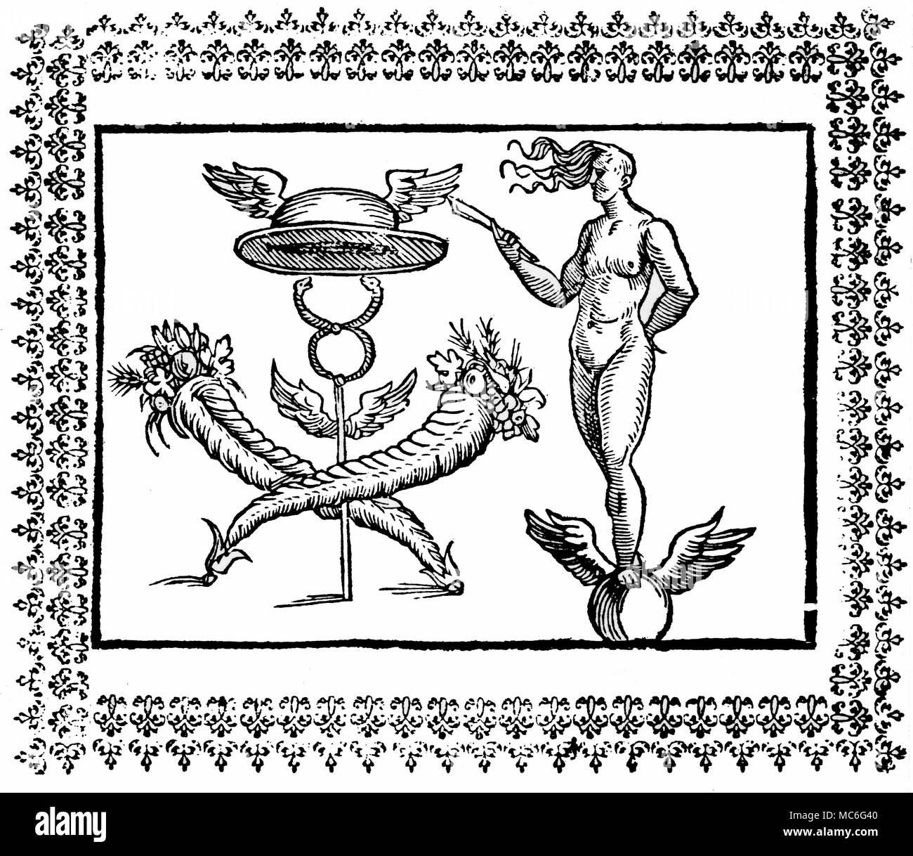 Greek Mythology Fortuna Symbols Hieroglyphic Figure Denoting