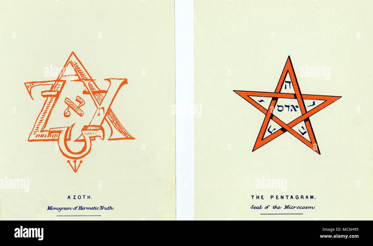 Magic Symbols The Azoth And The Pentagram Magic Symbols Drawn Up