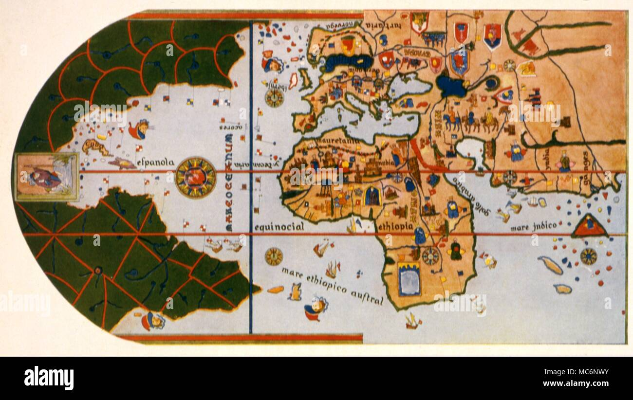 Maps - Cosa \' s Map The world map of Juan de la Cosa , dawn 1500 ...