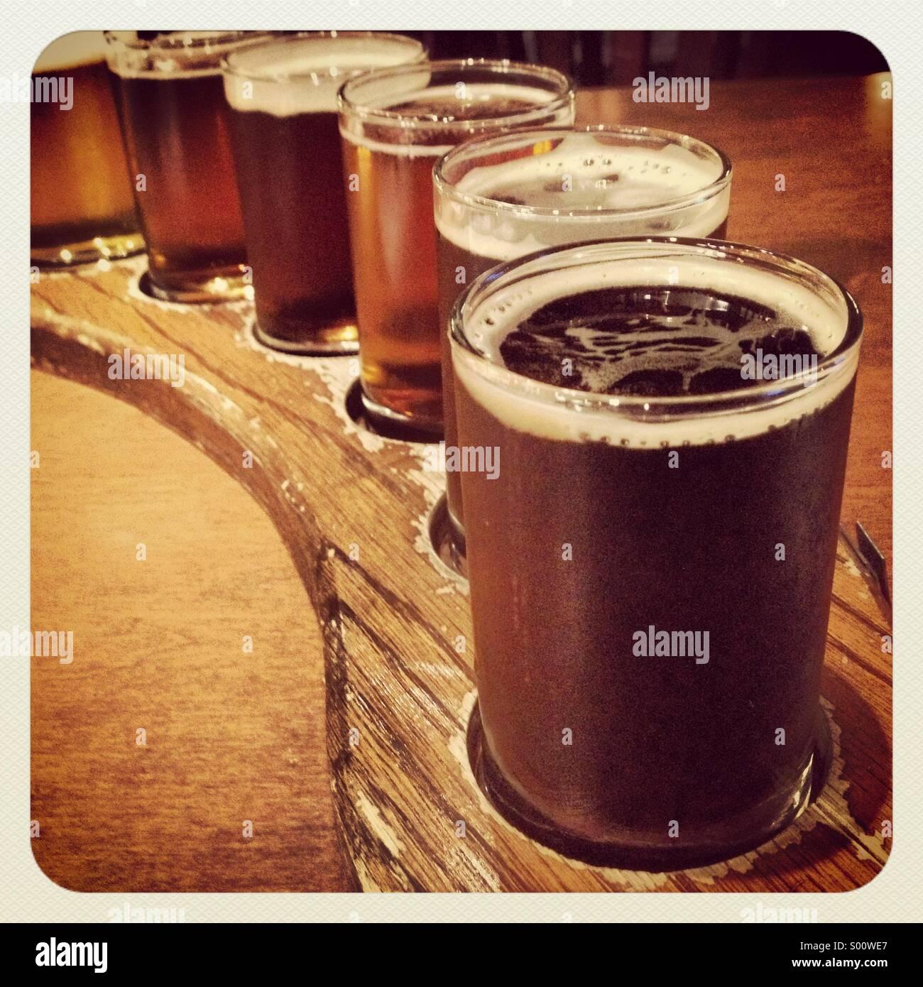 a-sampler-tray-of-beer-S00WE7.jpg