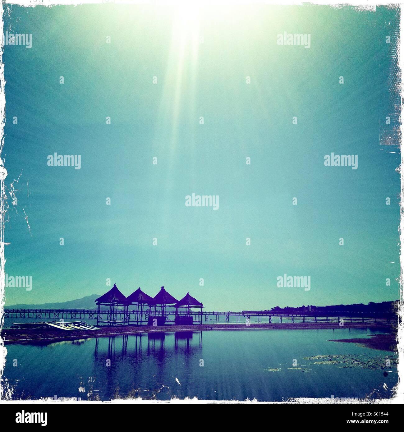 egyptian-beach-with-sun-lounger-hut-S015