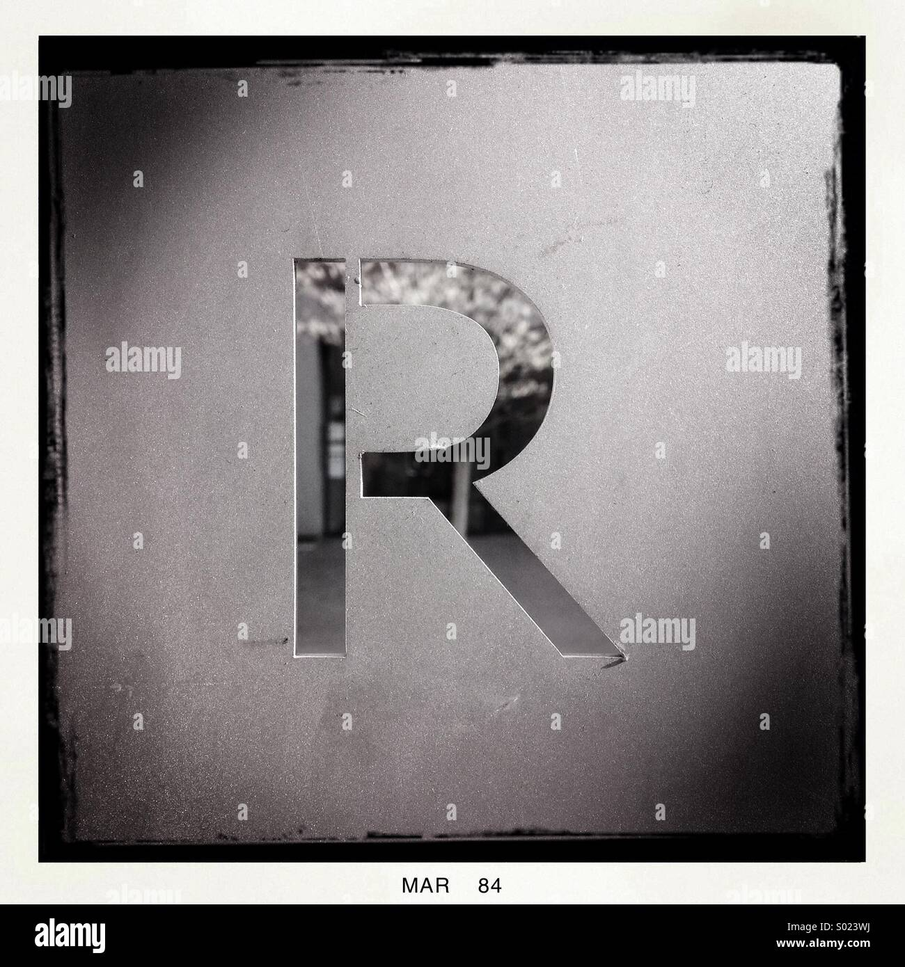 Letter r sign stock photos letter r sign stock images alamy metal cut out sign of the letter r stock image spiritdancerdesigns Gallery