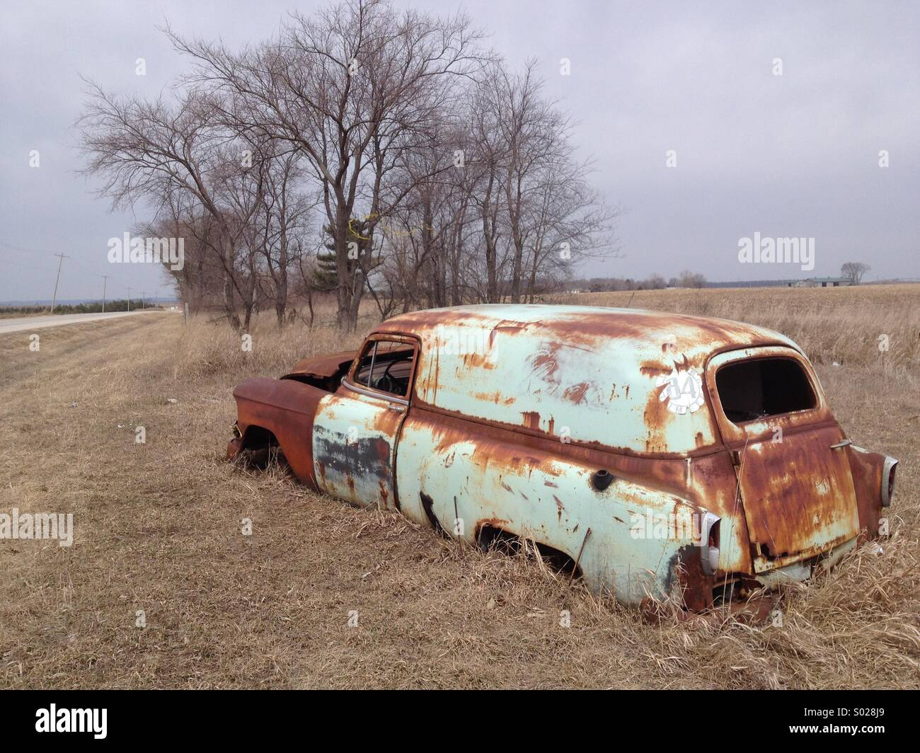 Old Rusty Car Without Dosrs