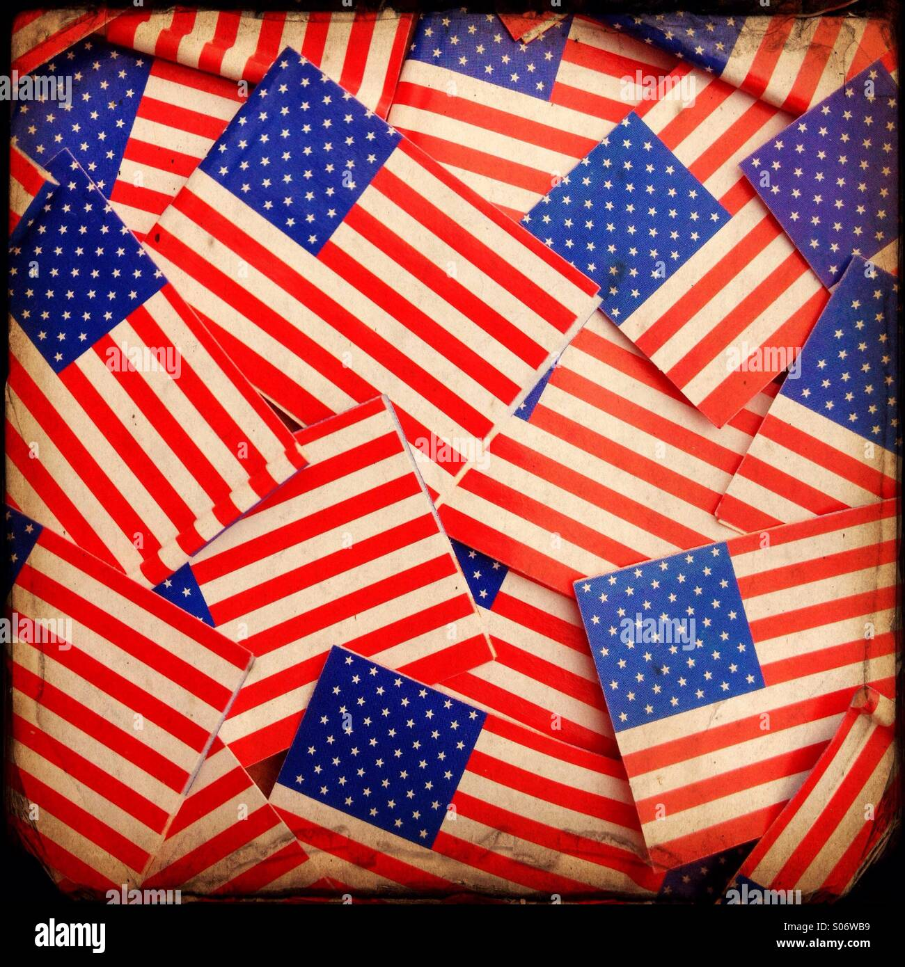 Miniature paper Stars and Stripes,the flag of the United States ...