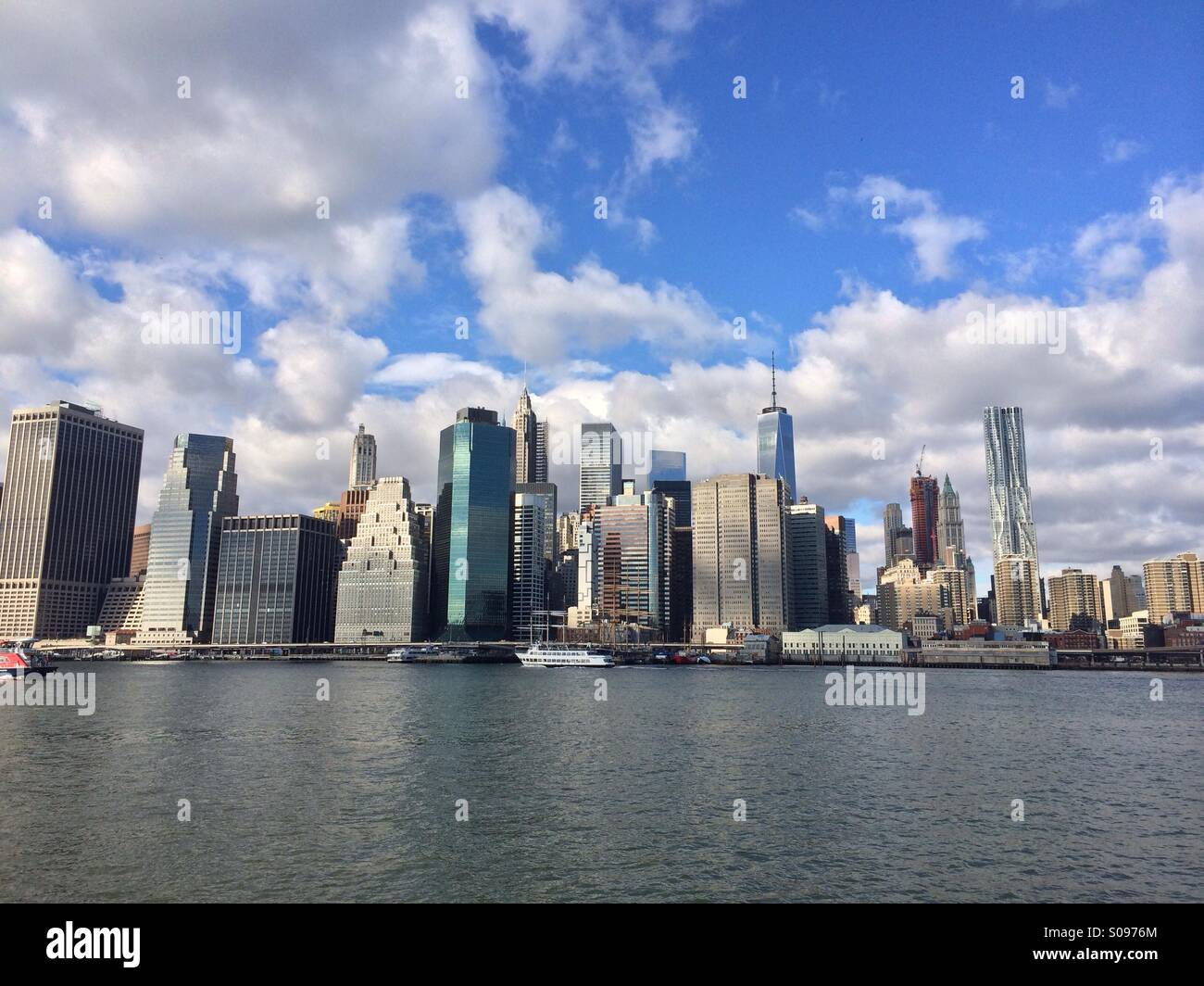 New York City line from Dumbo in Brooklyn Stock Photo ...