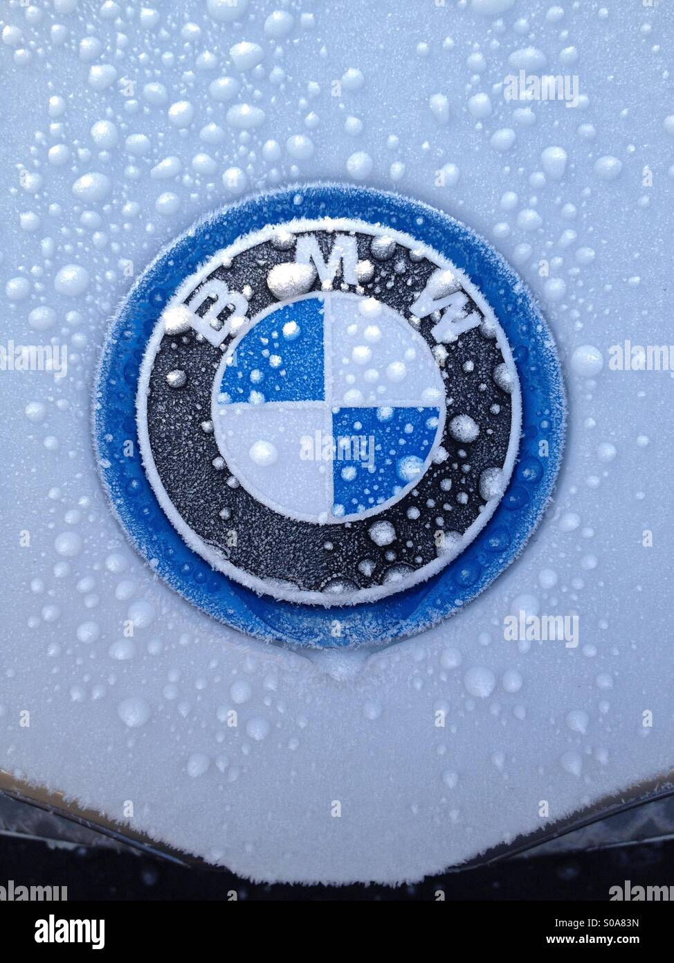 Frost covered car stock photos frost covered car stock images ice and frost covered bmw i8 super car badge stock image buycottarizona Images