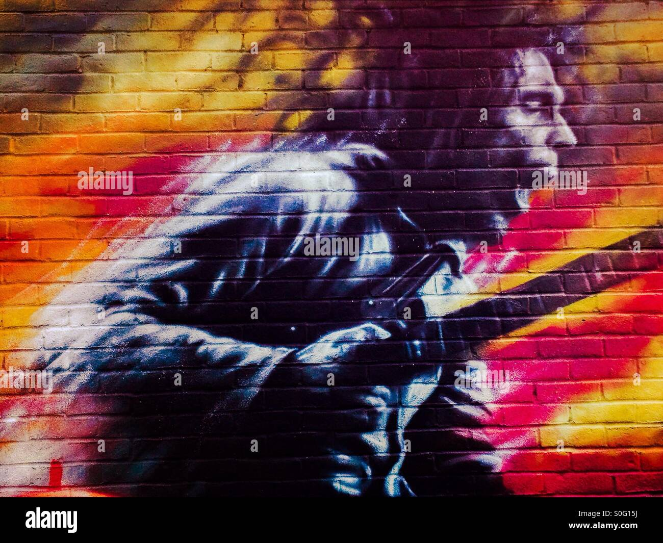 Bob marley street art stock photo royalty free image for Bob marley mural san francisco