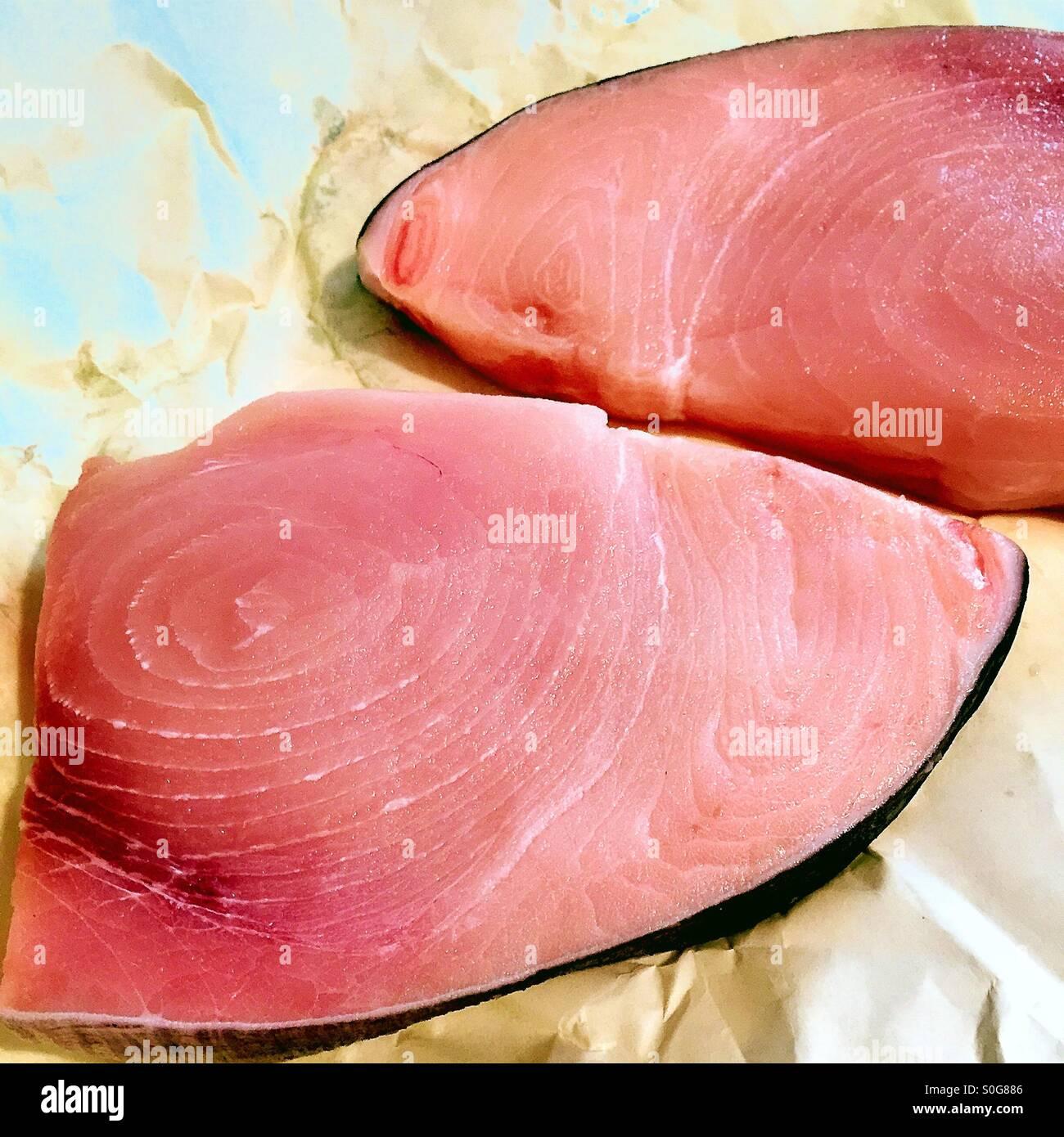 Raw swordfish steaks Stock Photo, Royalty Free Image ...
