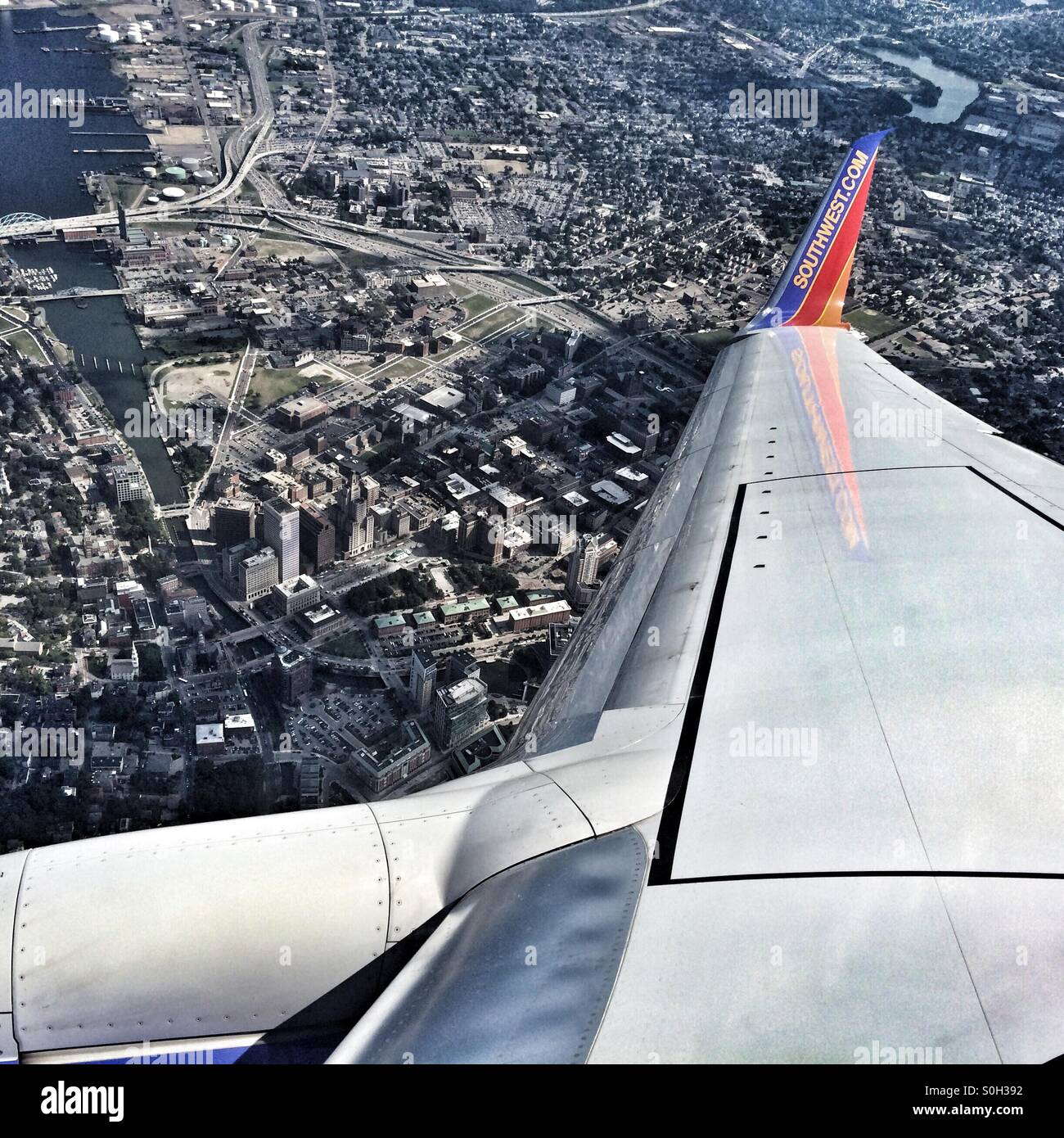 southwest-airlines-flying-over-providenc