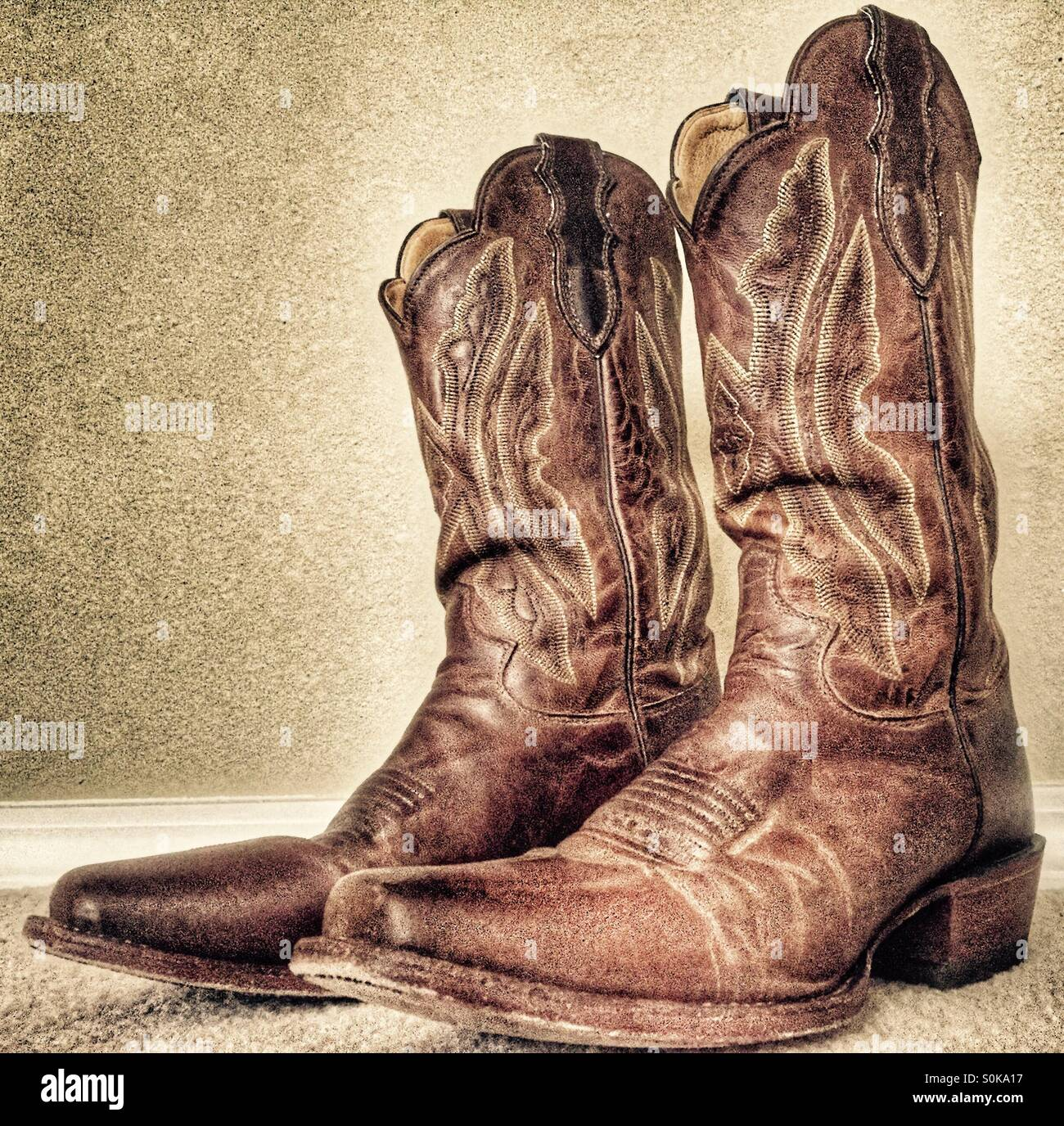 Worn cowboy boots Stock Photo, Royalty Free Image: 310211587 - Alamy