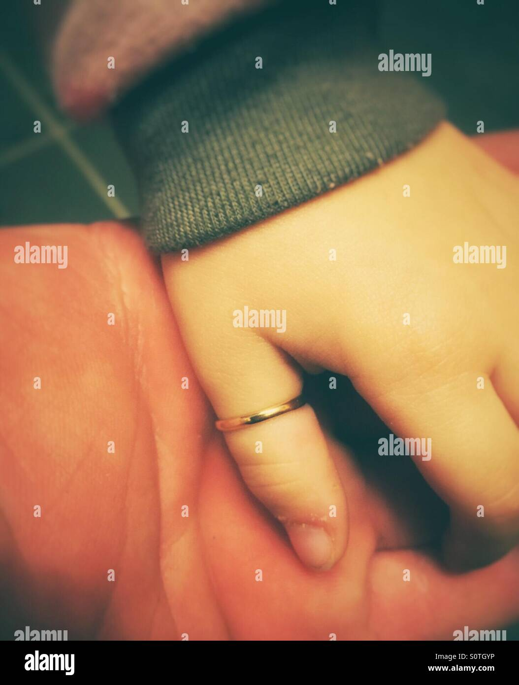Young girl showing her thumb ring Stock Photo, Royalty Free Image ...