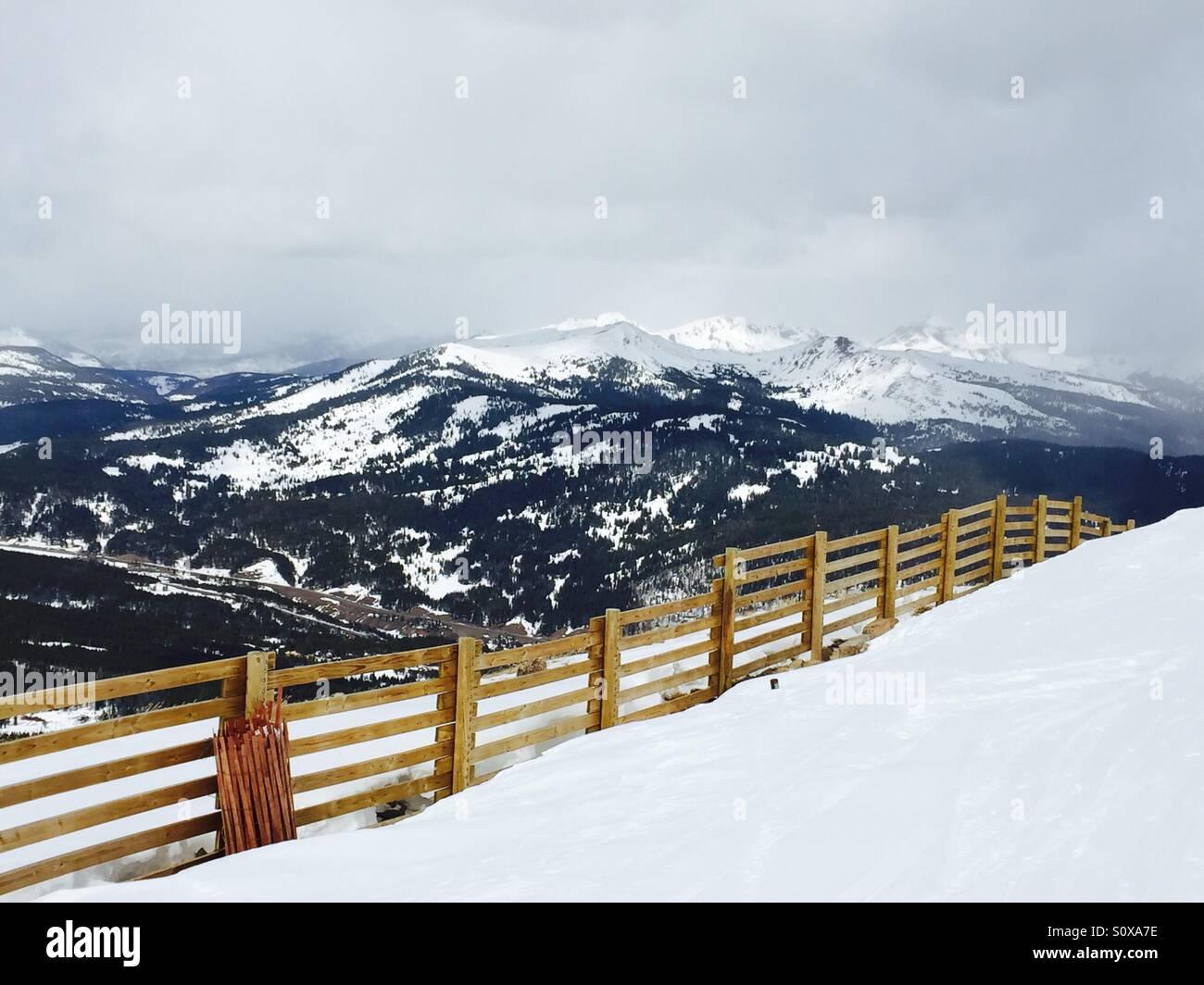 Copper Mountain Ski Area, Colorado. 9 March 2016   A Snow Fence With The