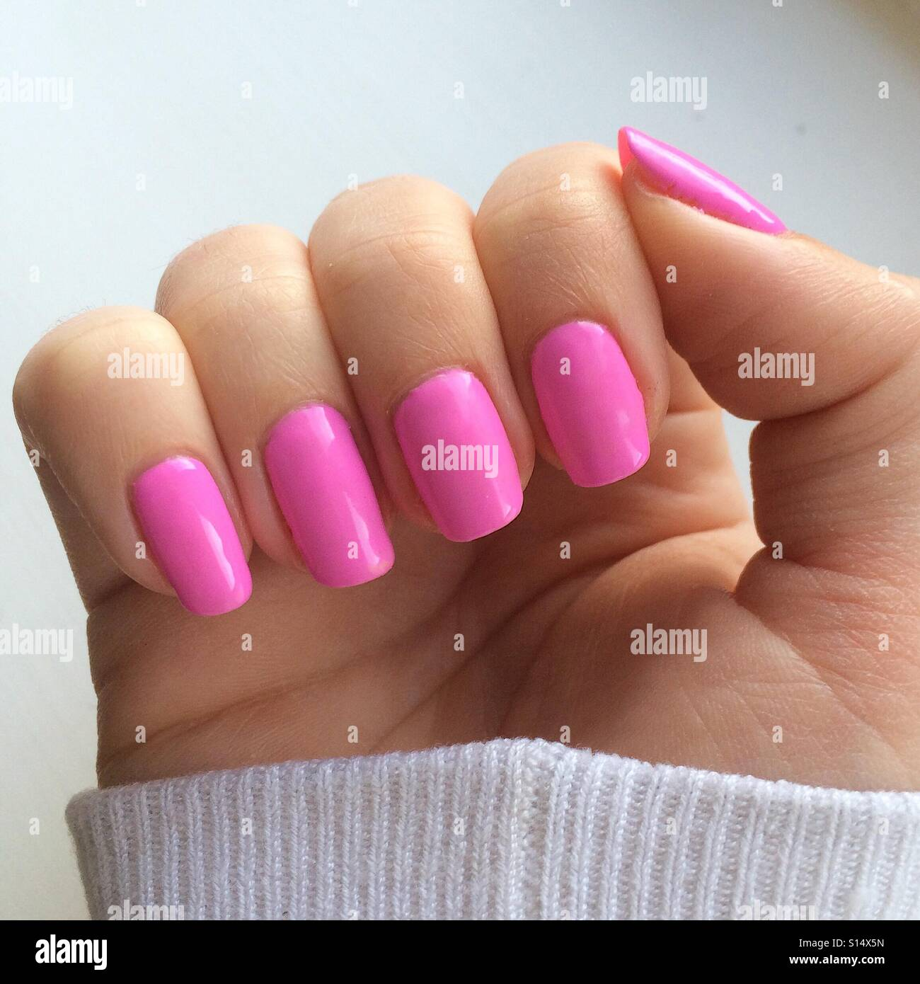barbie pink nails