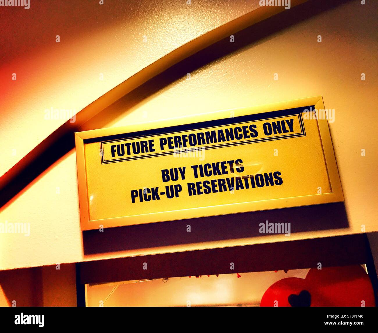 Sign At Broadway Theater Box Office Time Square Nyc Usa Stock Photo Royalty Free Image
