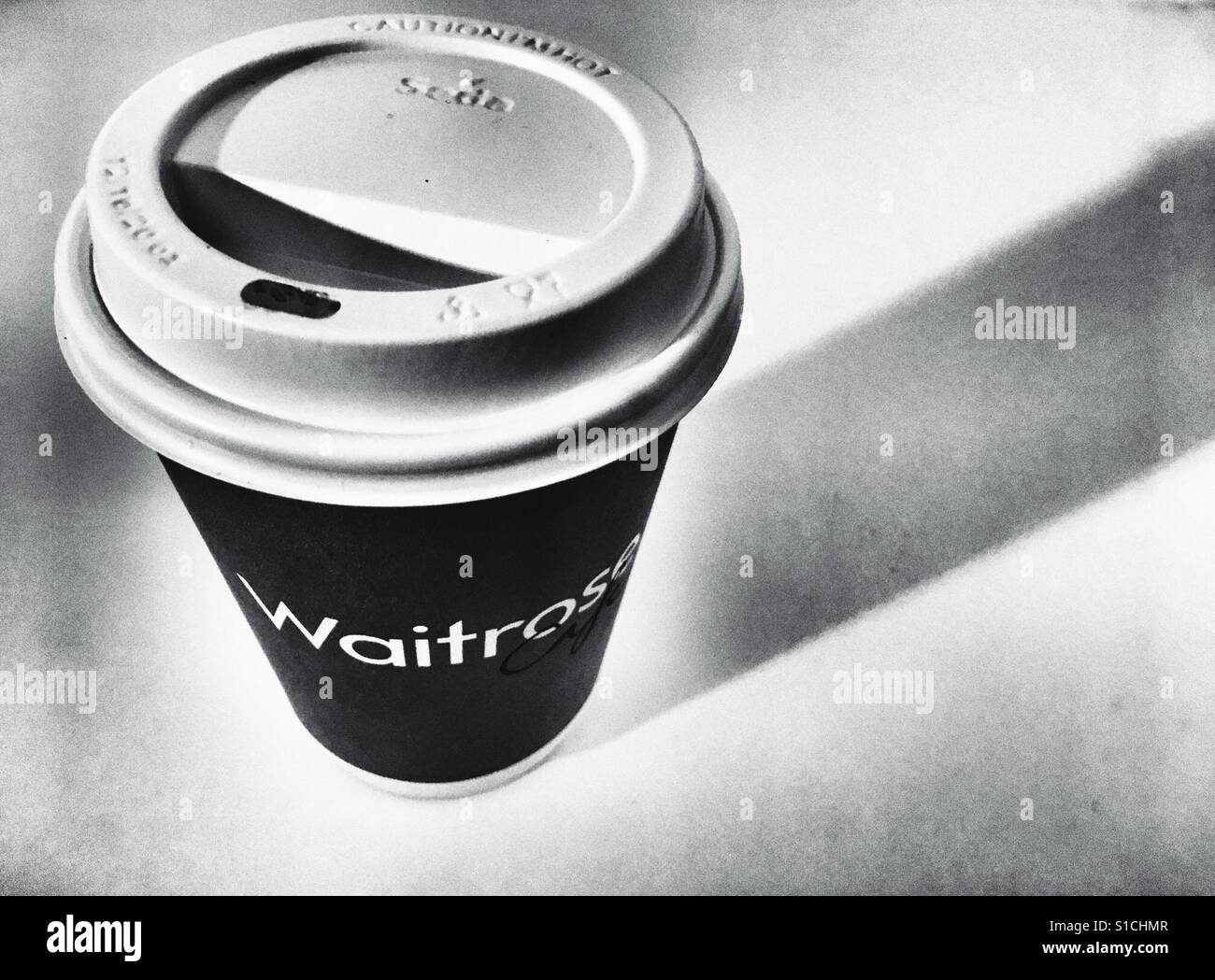waitrose take away coffee cup stock photo royalty free. Black Bedroom Furniture Sets. Home Design Ideas