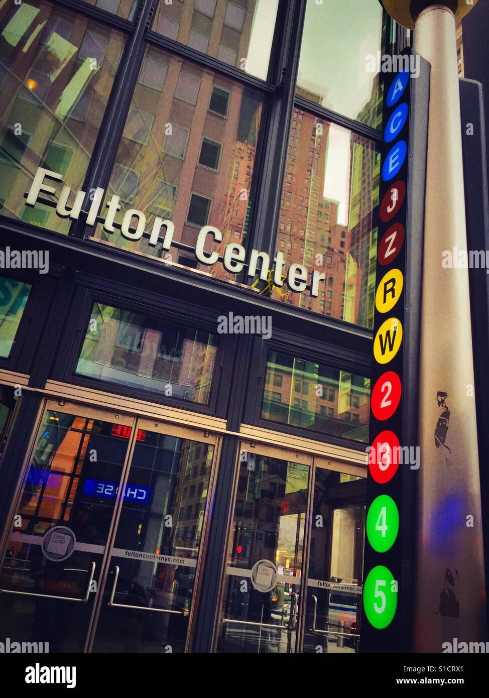 Subway line symbols at the fulton center station financial subway line symbols at the fulton center station financial district nyc usa biocorpaavc Gallery