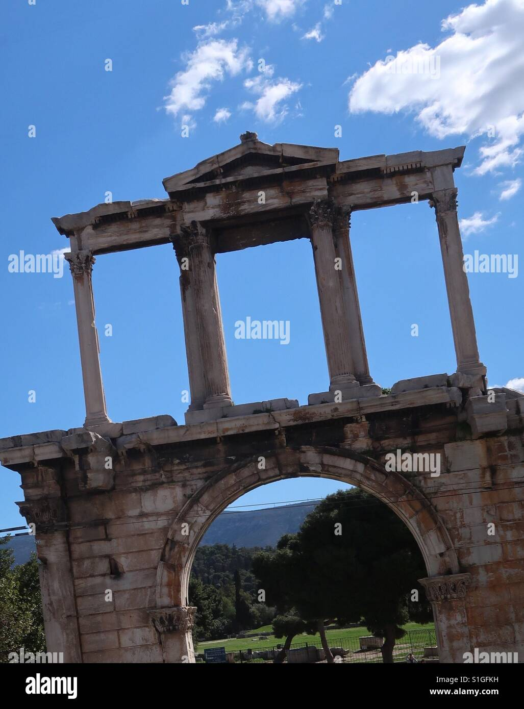 Hadrians Arch, Athens, Greece Stock Photo, Royalty Free ...