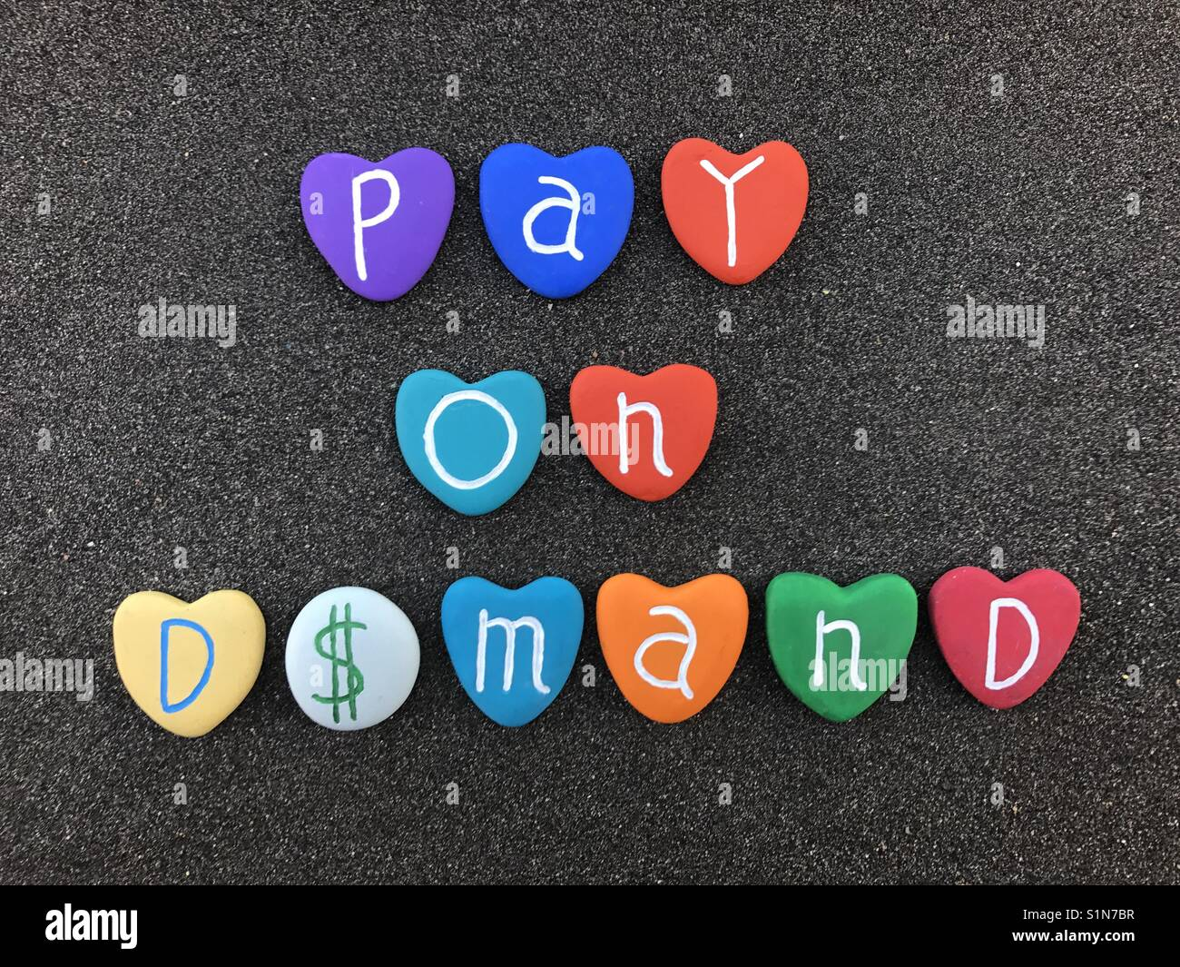 Pay On Demand With Us Dollar Symbol Stock Photo Royalty Free Image
