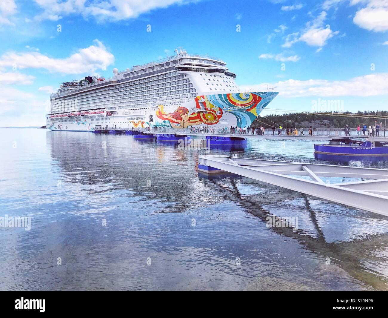 Norwegian Getaway Cruise Ship At The Port Of Nynashamn Sweden - Getaway cruise ship