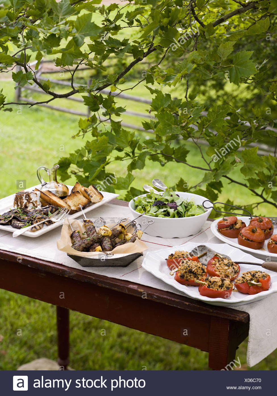Maryland USA Buffet Table Set Up In Garden Salads Buffet