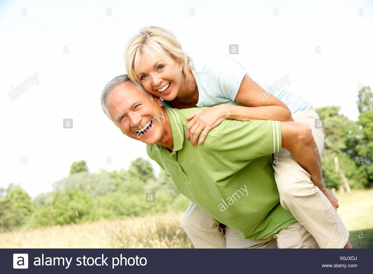 Mature couple has fun