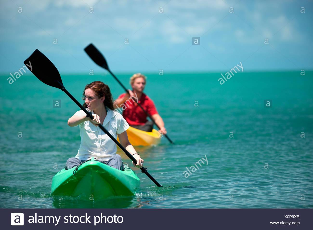 a man and woman kayak in florida stock photo 275856639 alamy