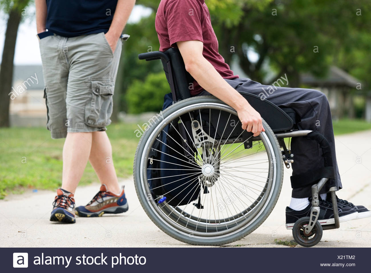 Handicapped man on a wheel chair Stock Photo: 276636530 - Alamy