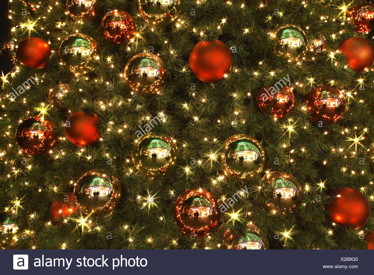 Christmas-tree illumination close-up tree fir-tree Christmas-jewelry ...