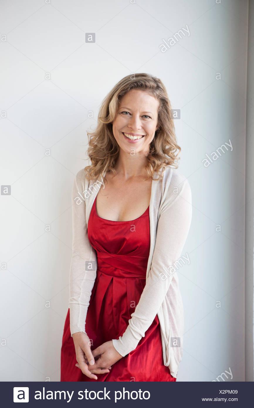 Red dress mature
