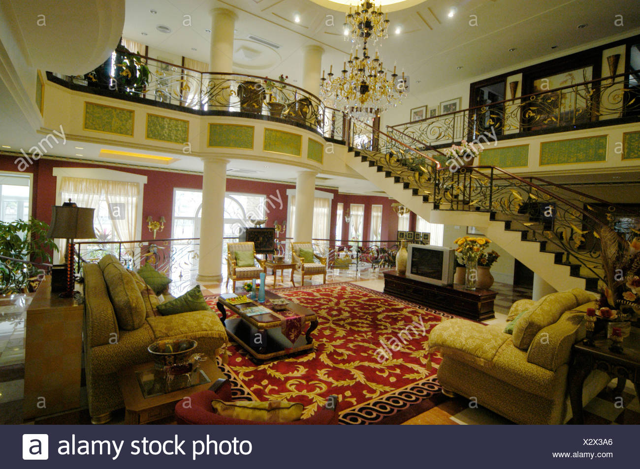 Living Room Of A Rich Chinese Family, China