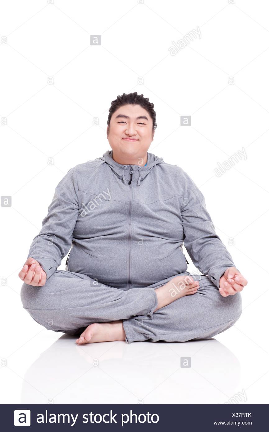 person sitting cross legged