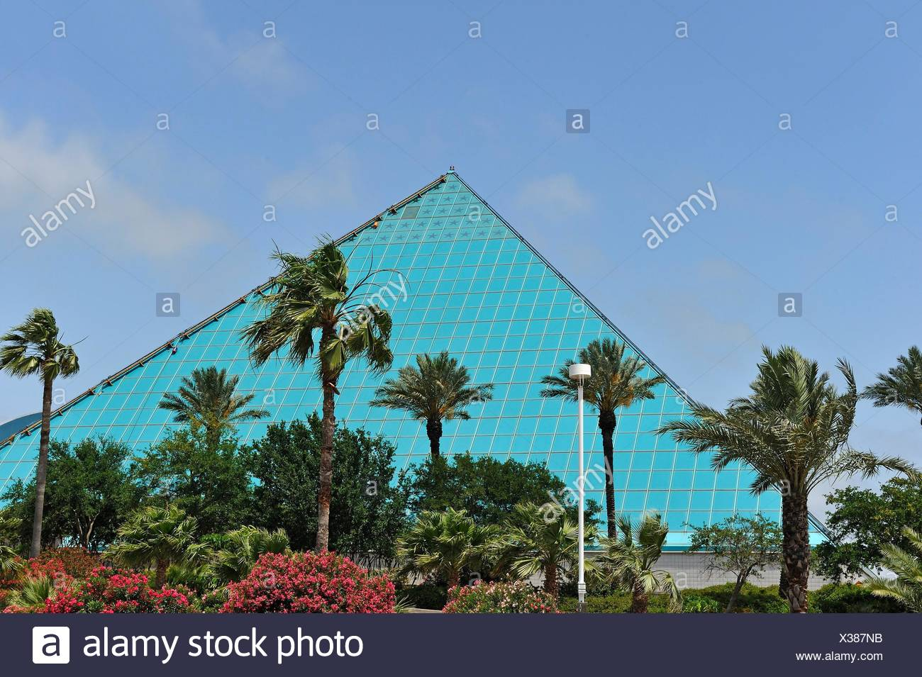 Awesome Aquarium Pyramid, Moody Gardens, Galveston Island, Gulf Of Mexico, Texas,  United States Of America, North America.