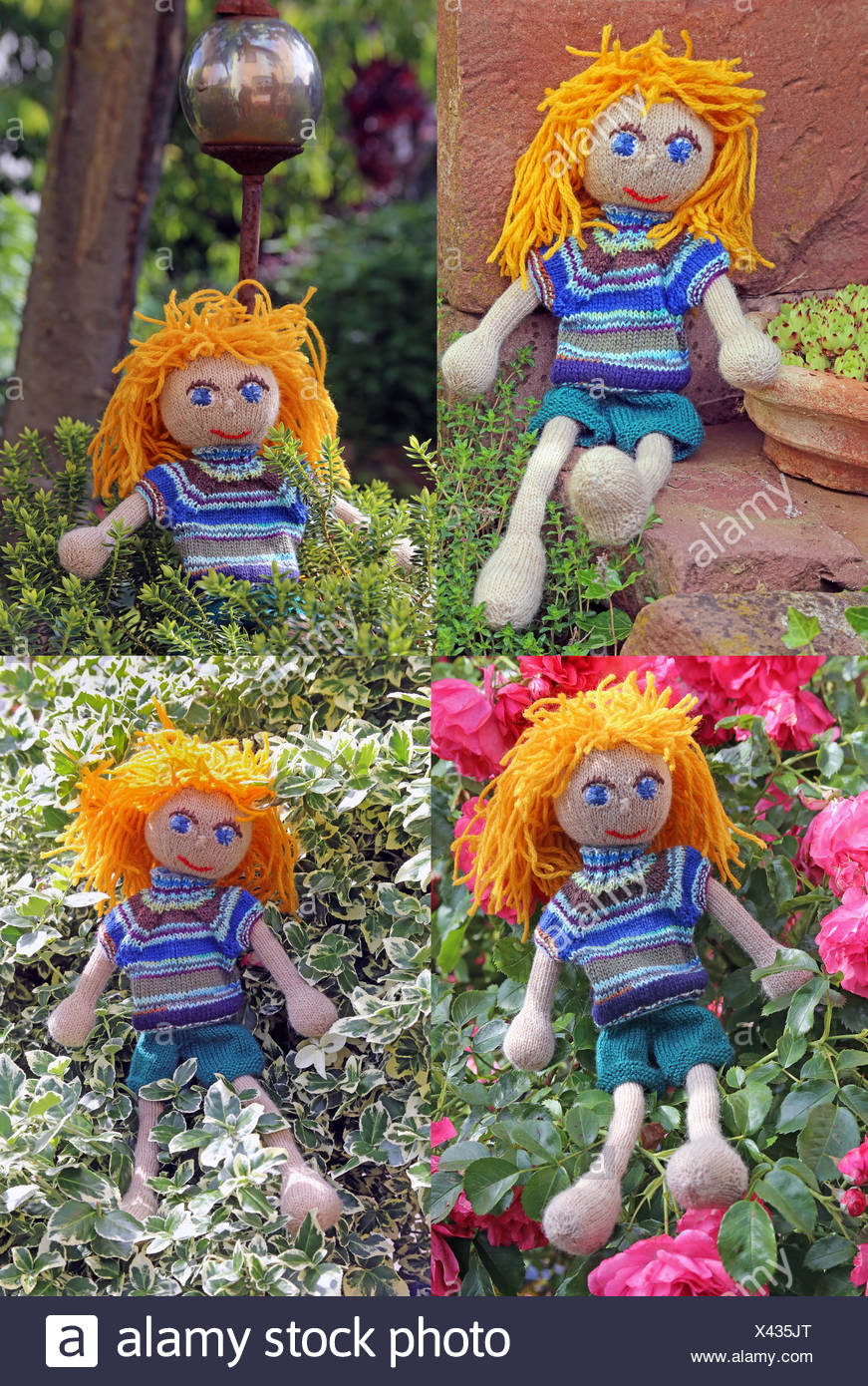 handmade dolls in the garden girls - The Doll In The Garden