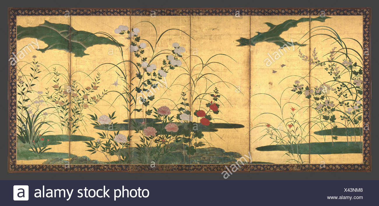 Flowers and Grasses of the Four Seasons. Artist: Circle of Kano ...