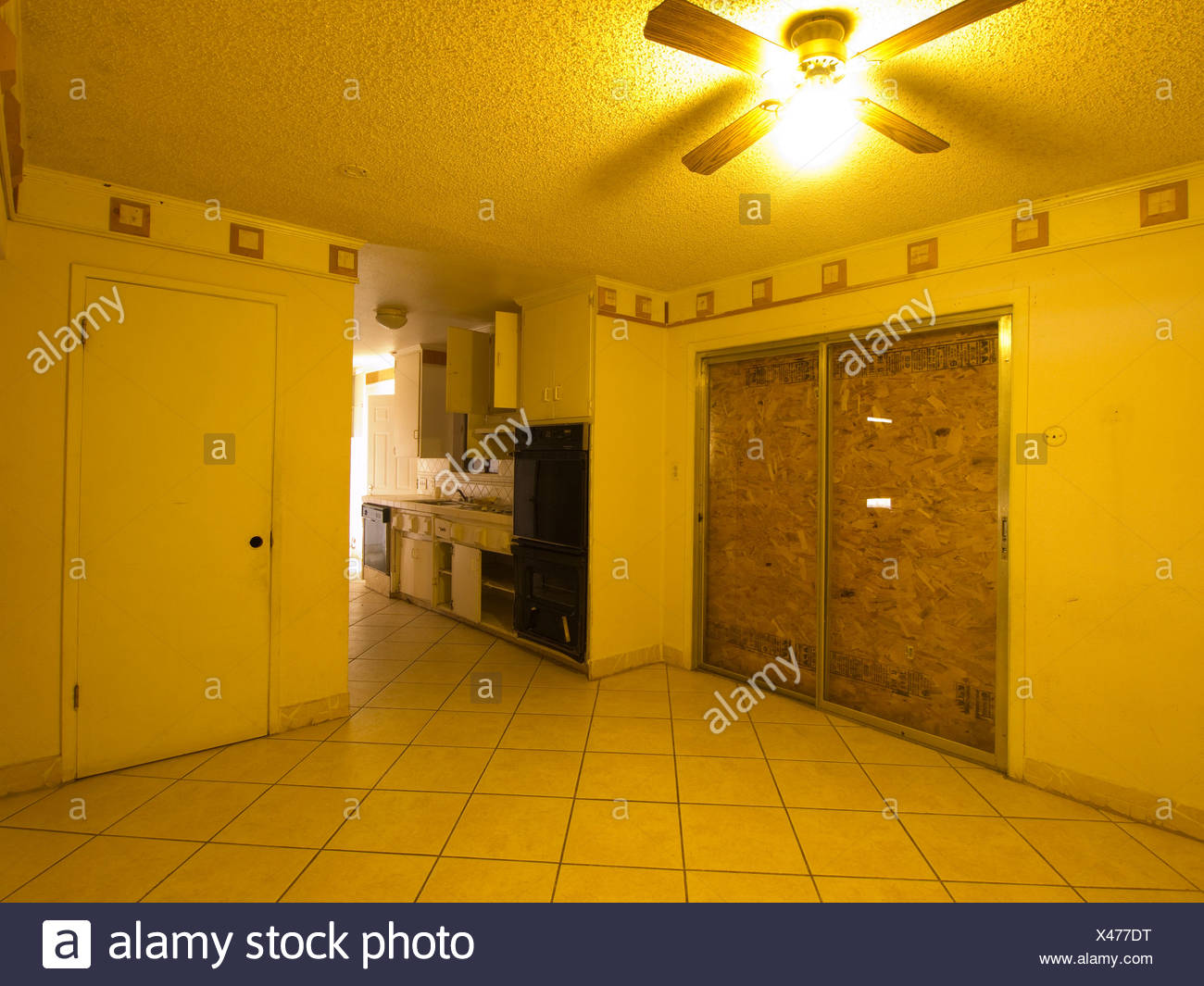 interiors of foreclosed home in fresno california united states