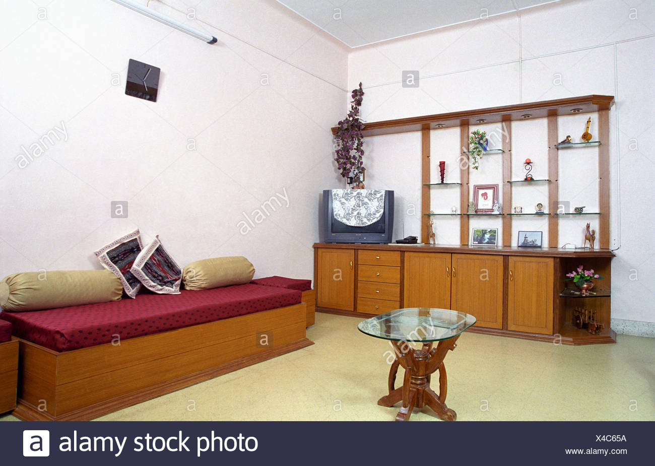 interior a living room with tradition indian seating arrangement