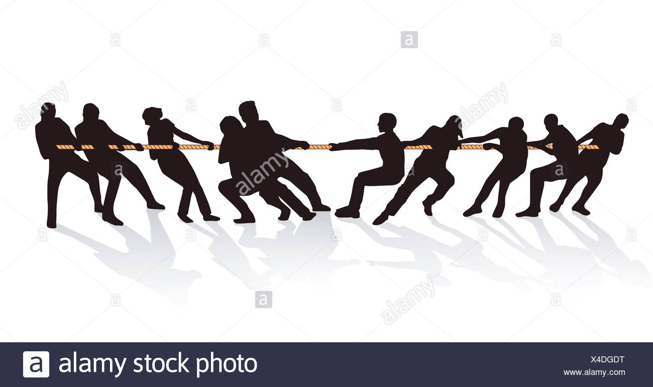 together on the rope pull stock photo 278122820 alamy