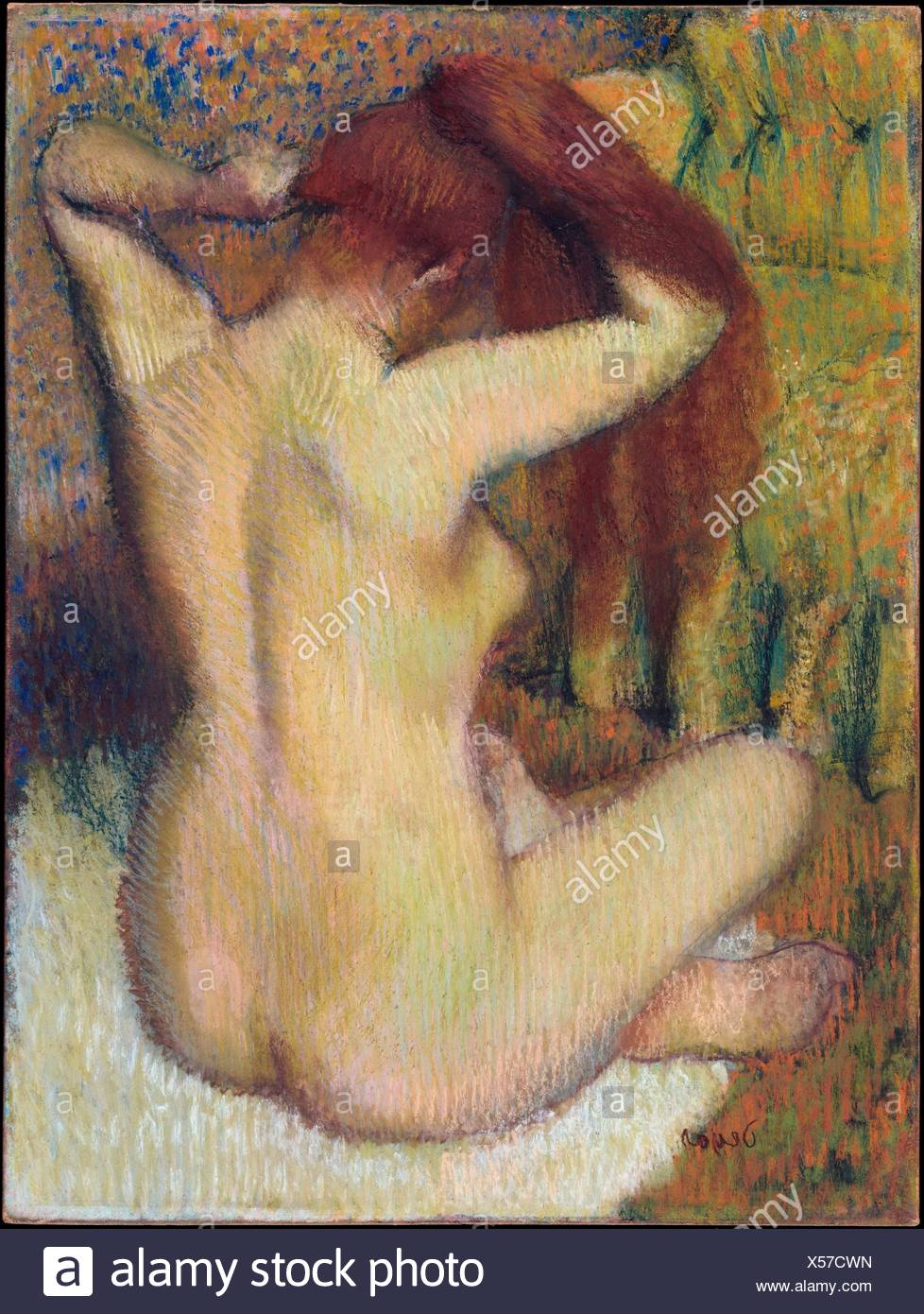 hair her woman Degas combing