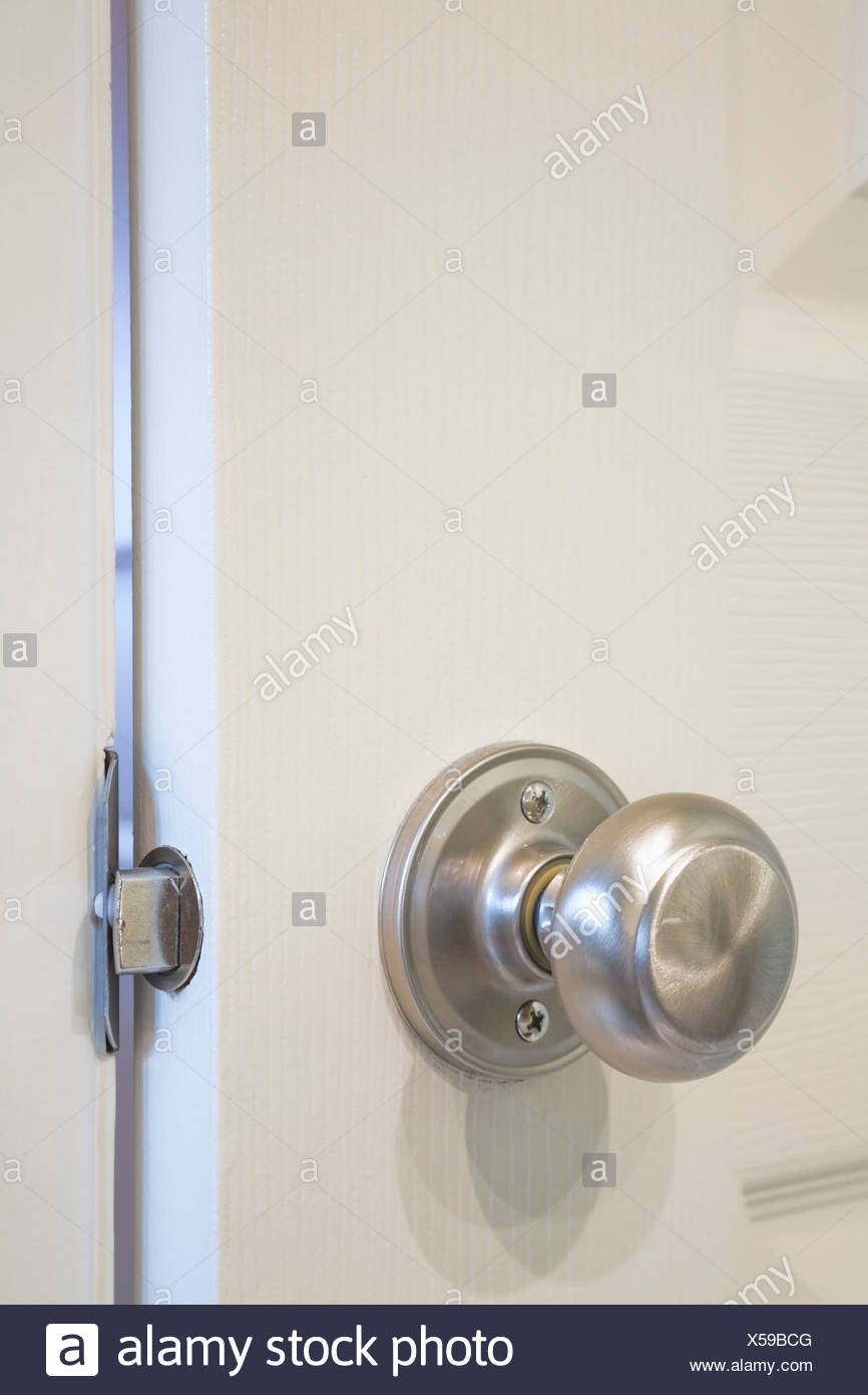 close up of a bathroom door knob - Bathroom Door Knobs