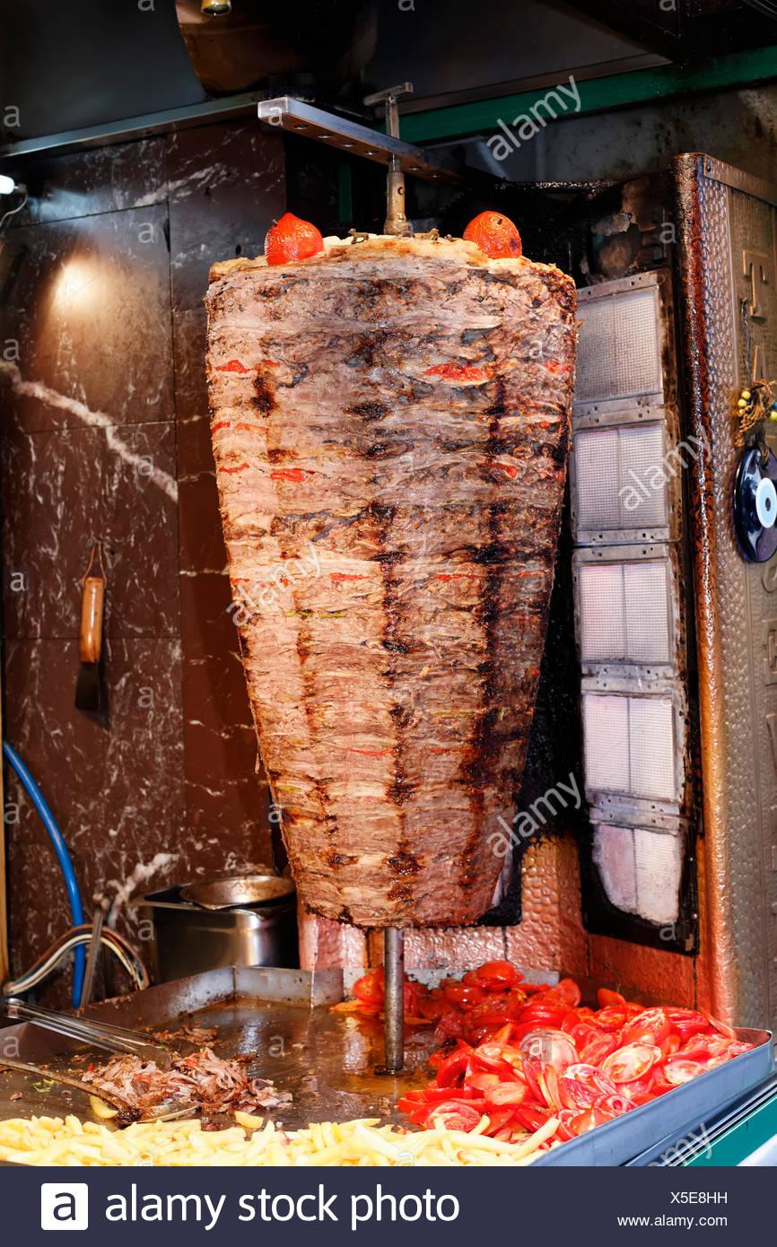 doner kebab skewer istanbul turkey europe stock photo 278753261