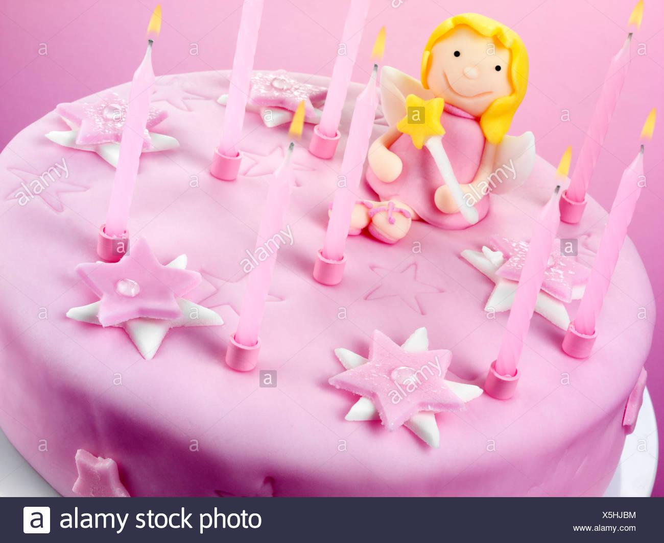 Pink Fairy Birthday Cake Stock Photo 278826792 Alamy