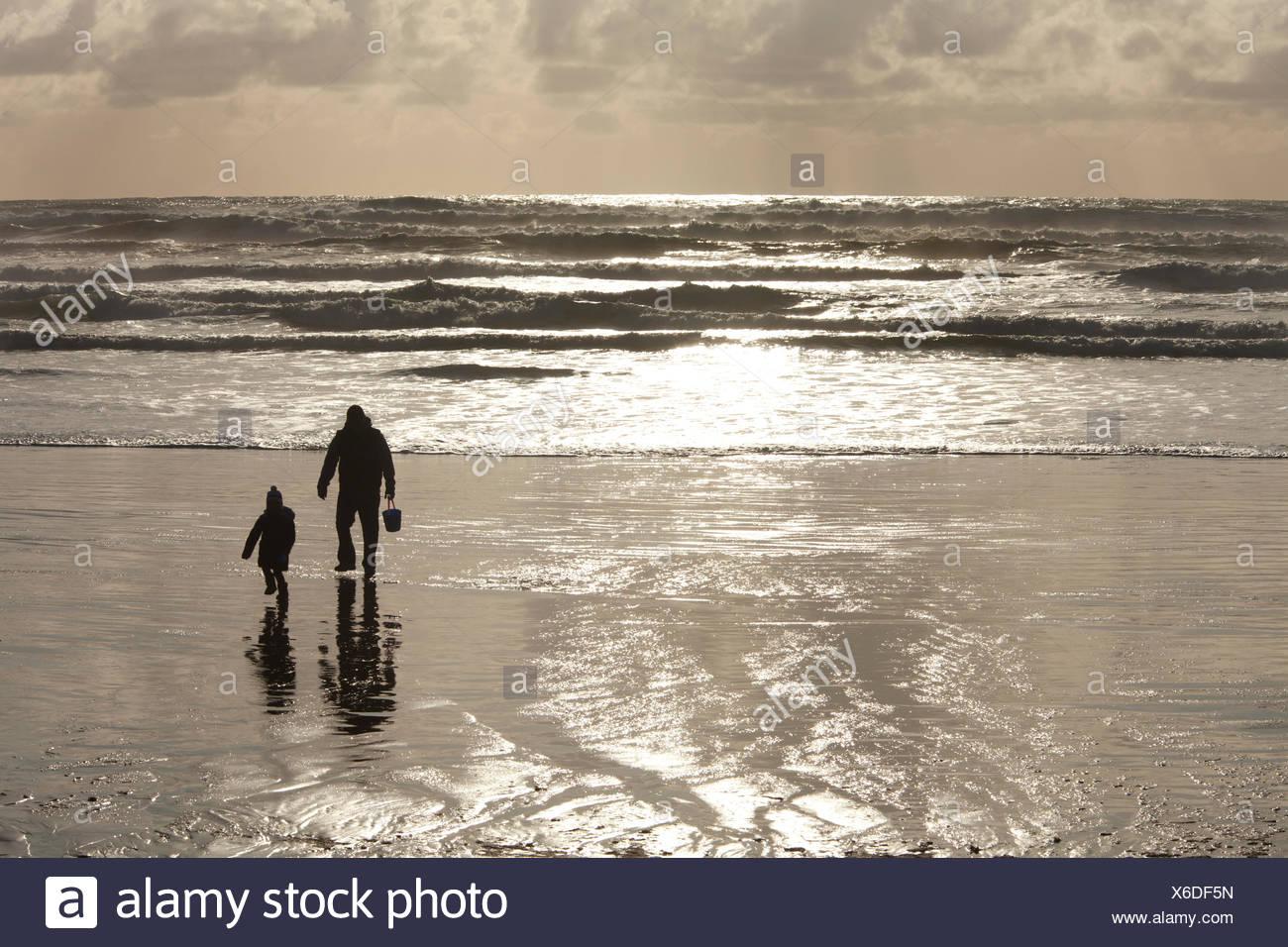 Cox bay near tofino stock photos cox bay near tofino stock a father daughter on cox bay beach near tofino british columbia canada on vancouver island in nvjuhfo Image collections