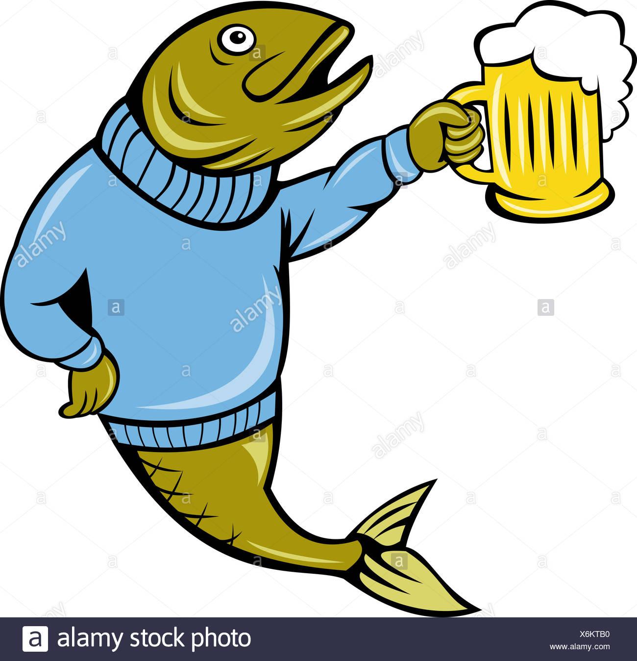 drink drinking bibs fish beer bottle herring cartoon lager drink