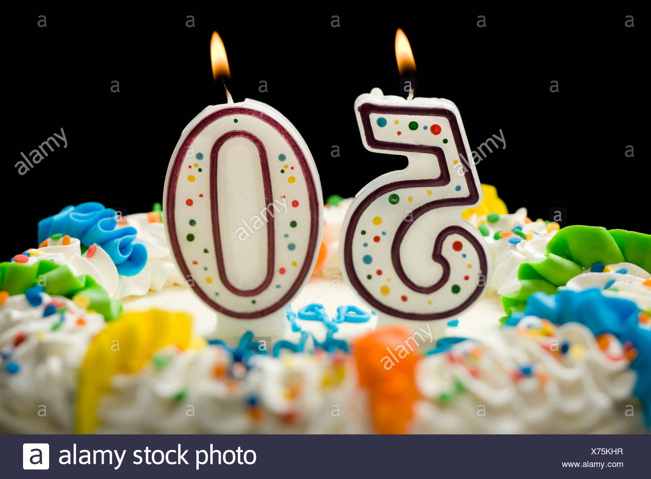 Birthday Cake With Candles That Say 50 Stock Photo 279793635 Alamy